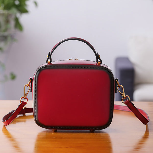 Chic Cube Bag Womens Leather Crossbody Bags Shoulder Bag for Women Original