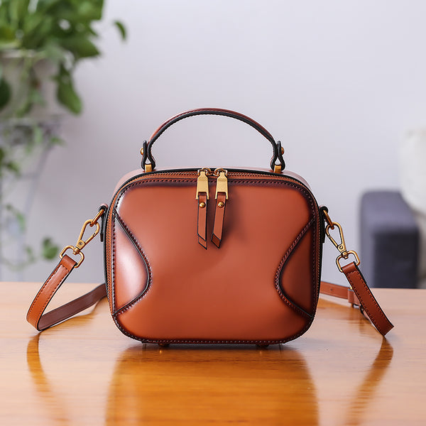 Chic Cube Bag Womens Leather Crossbody Bags Shoulder Bag for Women beautiful