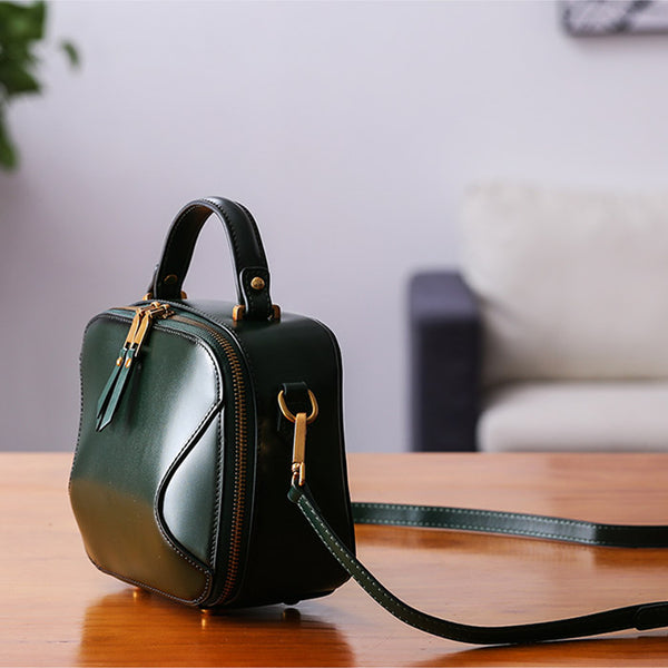 Chic Cube Bag Womens Leather Crossbody Bags Shoulder Bag for Women girlfriend