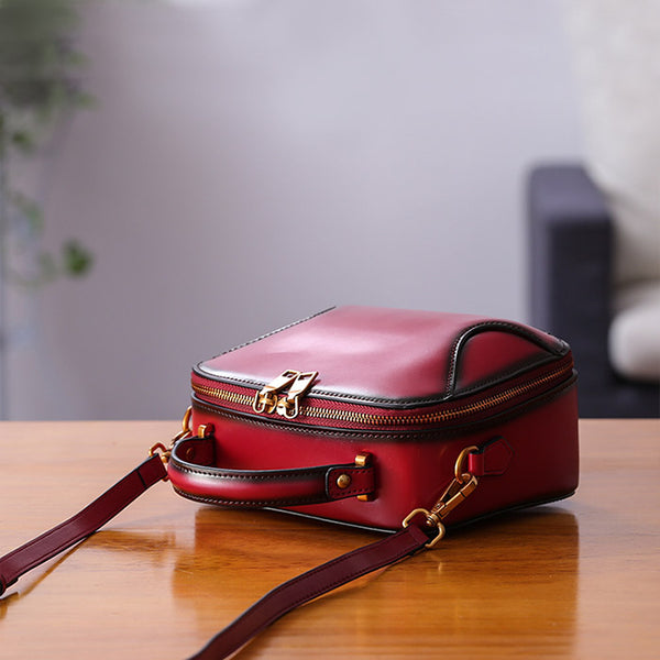 Chic Cube Bag Womens Leather Crossbody Bags Shoulder Bag for Women mini