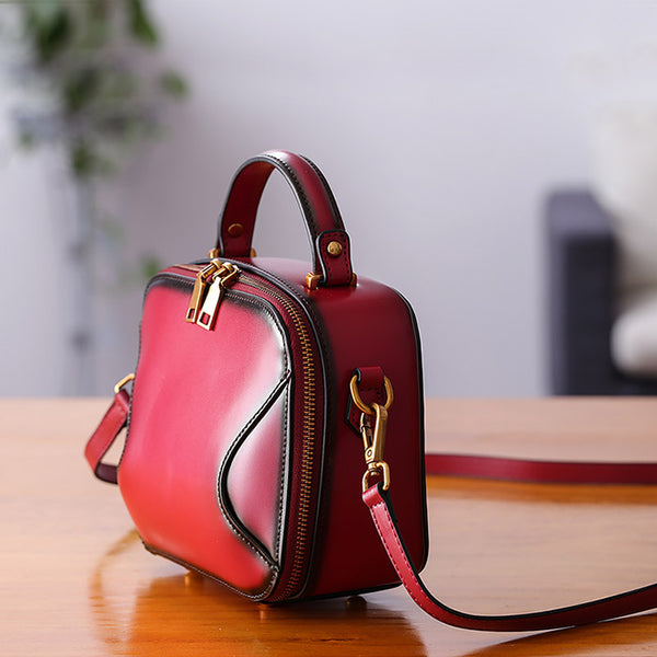 Chic Cube Bag Womens Leather Crossbody Bags Shoulder Bag for Women small
