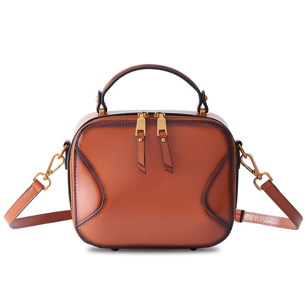 Chic Cube Bag Womens Leather Crossbody Bags Shoulder Bag for Women