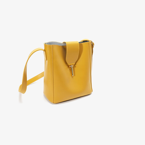 Chic Leather Womens Tote Bag Leather Shoulder Bag Purse for Women yellow