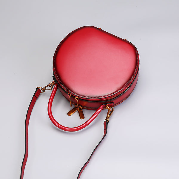 Chic Women Leather Circle Bag Crossbody Bags Handbags Purses for Women Accessories