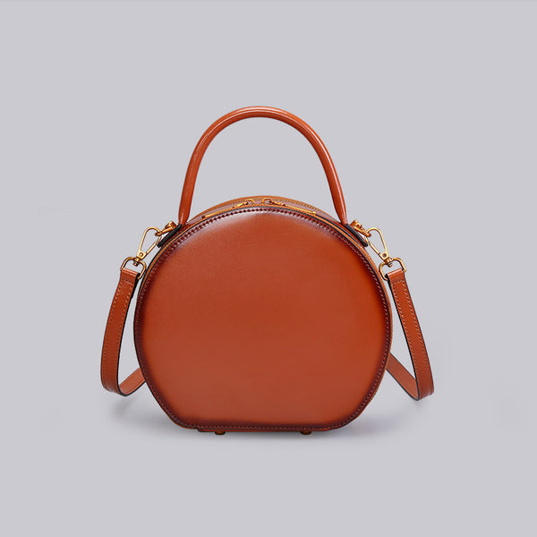 Chic Women Leather Circle Bag Crossbody Bags Handbags Purses for Women Boutique