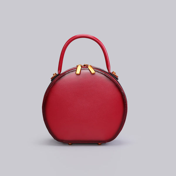 Chic Women Leather Circle Bag Crossbody Bags Handbags Purses for Women Designer