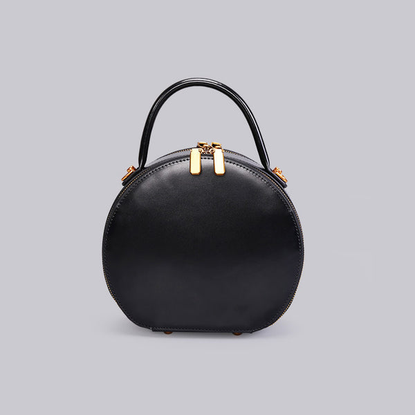 Chic Women Leather Circle Bag Crossbody Bags Handbags Purses for Women Genuine Leather