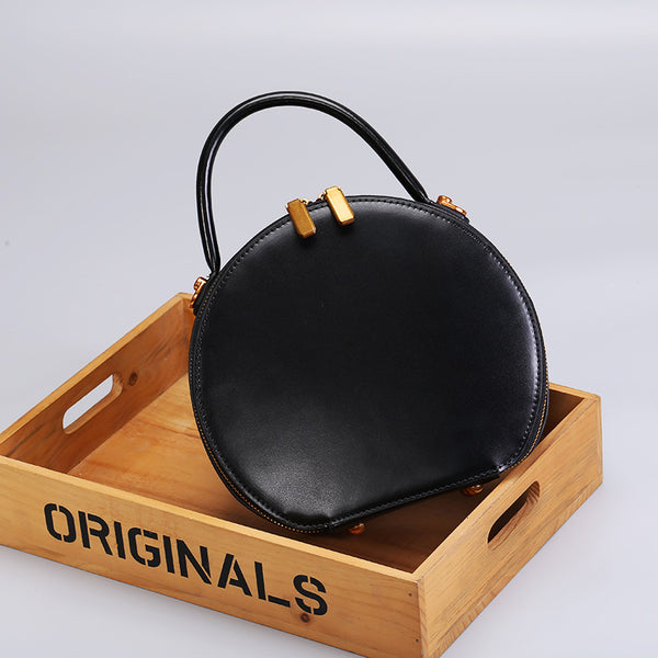 Chic Women Leather Circle Bag Crossbody Bags Handbags Purses for Women best