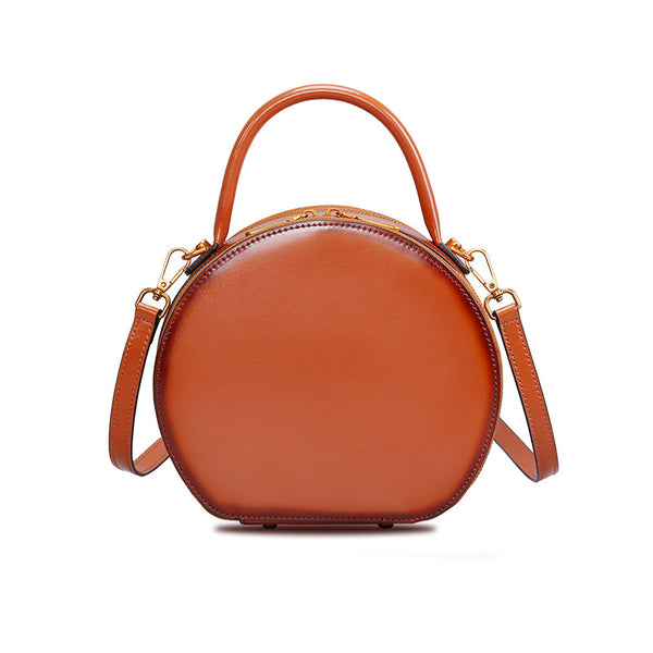 Chic Women Leather Circle Bag Crossbody Bags Handbags Purses for Women