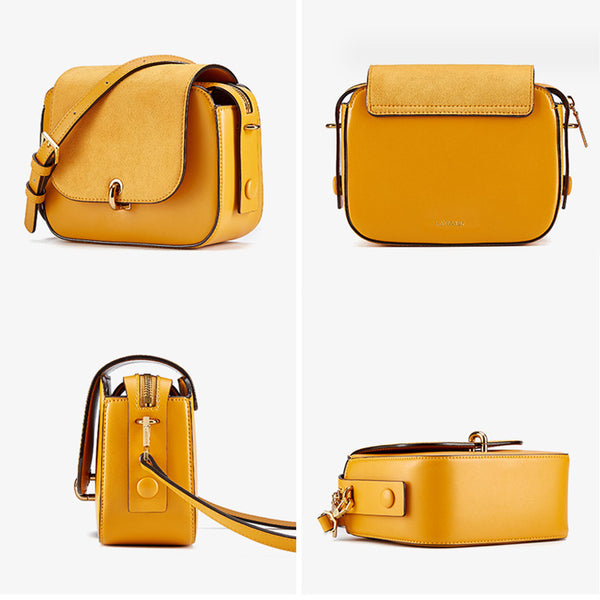 Chic Women Orange Leather Crossbody Bags Shoulder Bag for Women cool