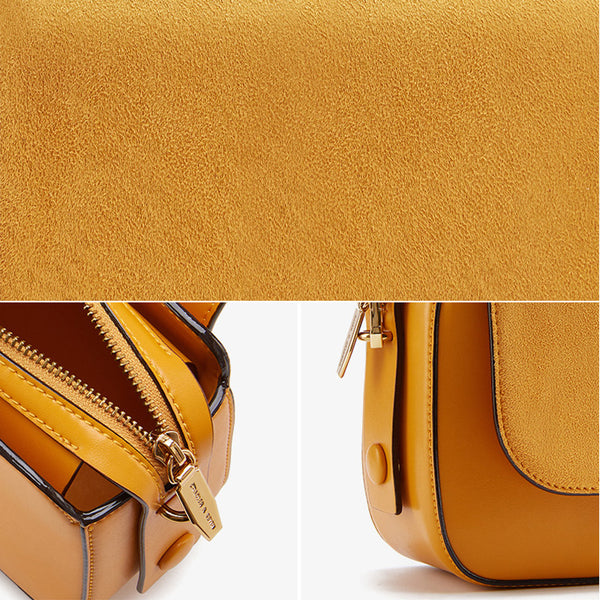 Chic Women Orange Leather Crossbody Bags Shoulder Bag for Women cute