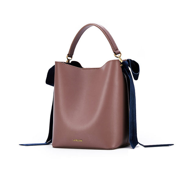 Chic Womens Bucket Bag Leather Handbags Crossbody Bags for Women