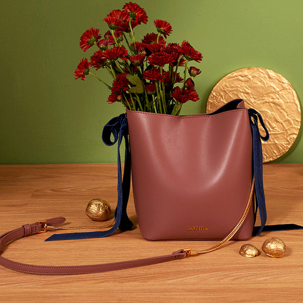 Chic Womens Bucket Bag Leather Handbags Crossbody Bags for Women Details