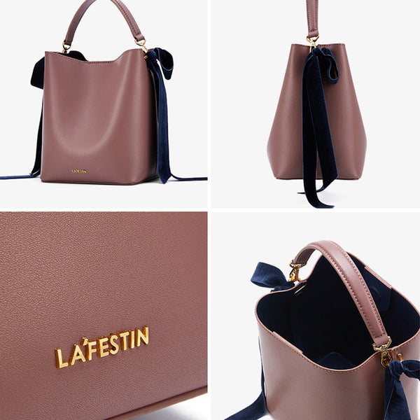 Chic Womens Bucket Bag Leather Handbags Crossbody Bags for Women small