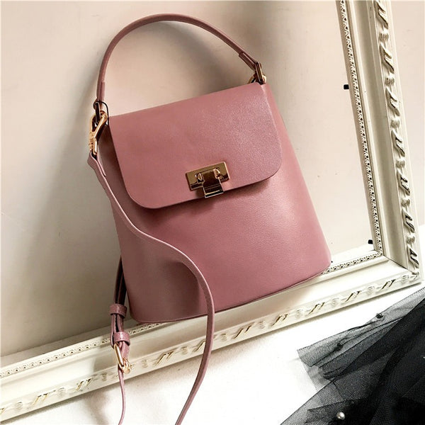 Chic Womens Leather Crossbody Bags Leather Handbags for Women Pink Accessories