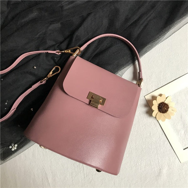 Chic Womens Leather Crossbody Bags Leather Handbags for Women Pink stylish