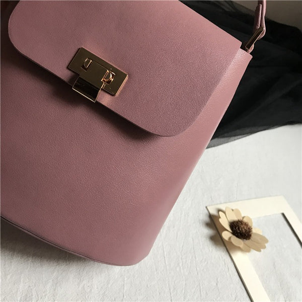 Chic Womens Leather Crossbody Bags Leather Handbags for Women Pink
