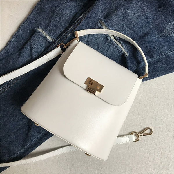 Chic Womens Leather Crossbody Bags Leather Handbags for Women white Accessories