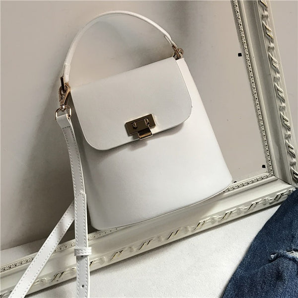 Chic Womens Leather Crossbody Bags Leather Handbags for Women white