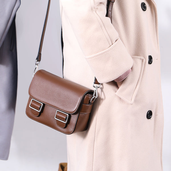 Cute Womens Leather Satchel Bag Crossbody Bags Purse for Women