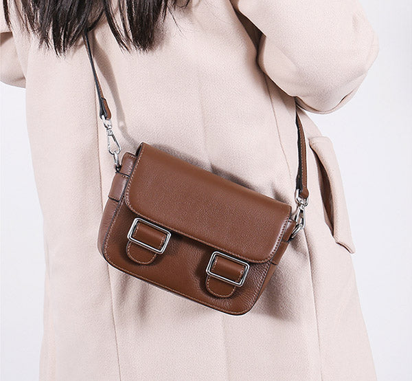 Chic Womens Leather Satchel Bag Crossbody Bags Purse for Women Details