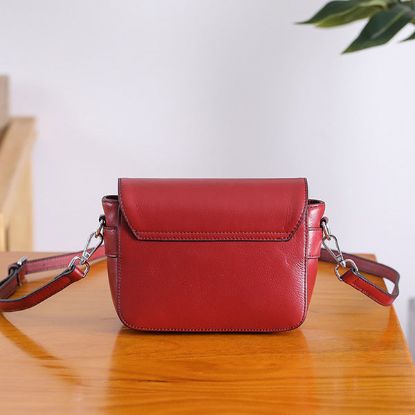 Chic Womens Leather Satchel Bag Crossbody Bags Purse for Women Handmade