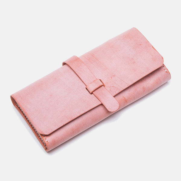 Chic Womens Pink Leather Long Wallets Clutch Bags Purses for Women Accessories