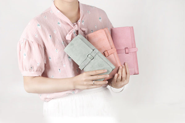 Chic Womens Pink Leather Long Wallets Clutch Bags Purses for Women best