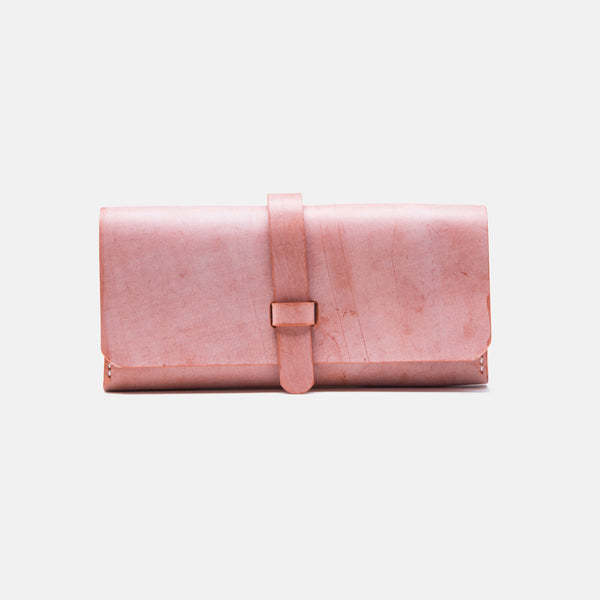 Chic Womens Pink Leather Long Wallets Clutch Bags Purses for Women chic