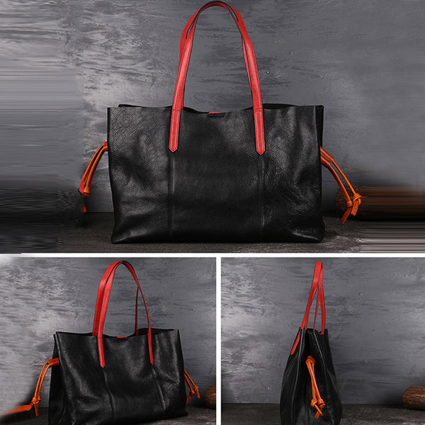 Classical Womens Genuine Leather Tote Bags Handbags Purses for Women Designer