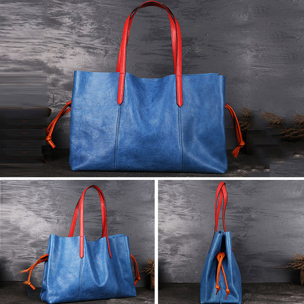 Classical Womens Genuine Leather Tote Bags Handbags Purses for Women Details