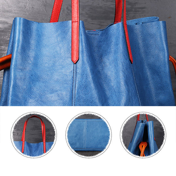 Classical Womens Genuine Leather Tote Bags Handbags Purses for Women cool