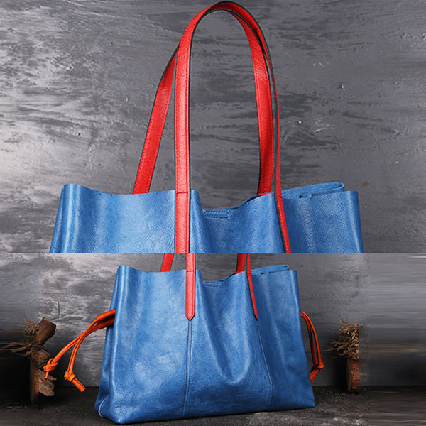 Classical Womens Genuine Leather Tote Bags Handbags Purses for Women cowhide