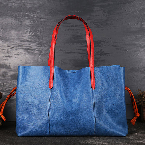 Classical Womens Genuine Leather Tote Bags Handbags Purses for Women
