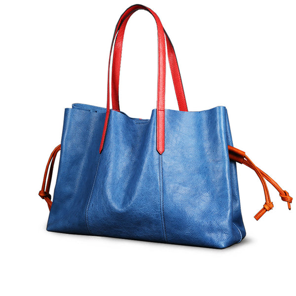 Classical Womens Genuine Leather Tote Bags