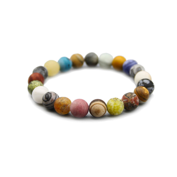 Colourful Beads Bracelet Handmade Couple Jewelry Accessories Women Men gift