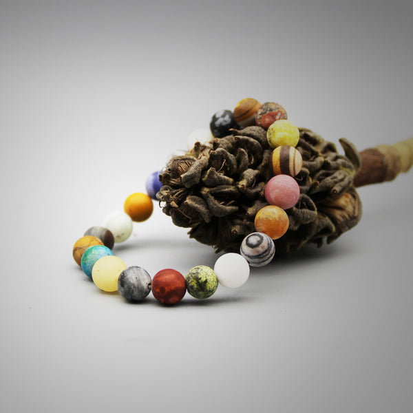 Colourful Natural Stone Beads Bracelet Handmade Couple Jewelry Accessories Women Men