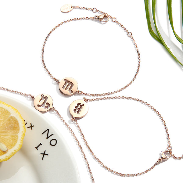 Constellation Anklet Unique Gold Plated Titanium Steel Jewelry Accessories Gift Women chic