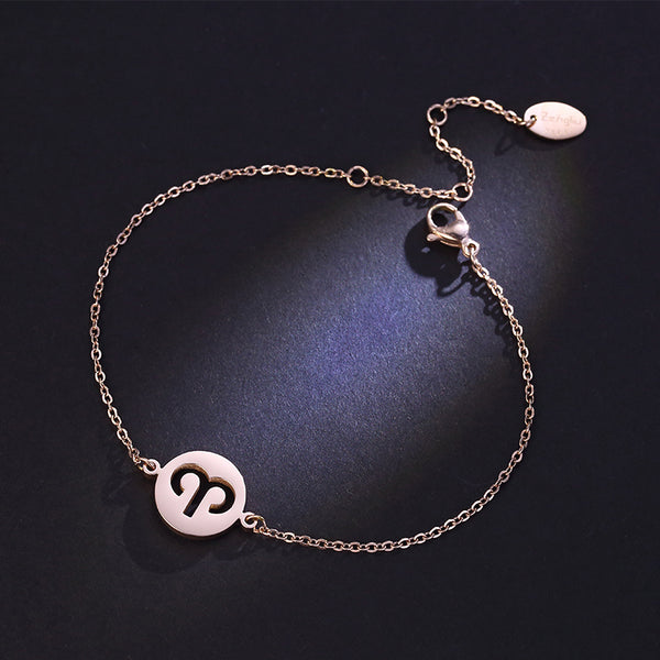 Constellation Anklet Unique Gold Plated Titanium Steel Jewelry Accessories Gift for Women