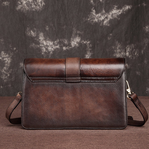 Cool Leather Satchel Crossbody Bags Small Over The Shoulder Purse for Women Handmade