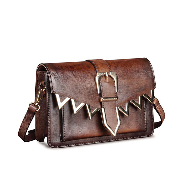 Cool Leather Satchel Crossbody Bags Small Over The Shoulder Purse for Women cool