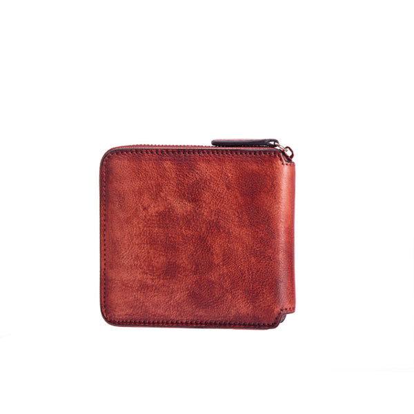Cool Leather Womens Short Zip Wallet Small Wallets for Women beautiful