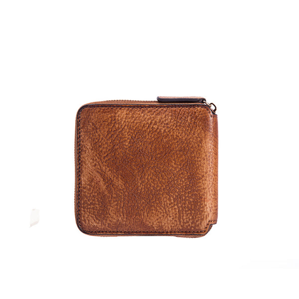 Cool Leather Womens Short Zip Wallet