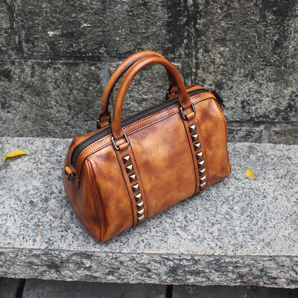 Cool-Rivets-Womens-Handbags-Brown-Leather-Shoulder-Bag-for-Women