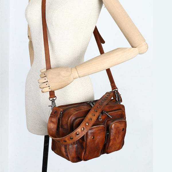 Cool Women's Leather Crossbody Sling Bags Purse Shoulder Bag for Women Chic