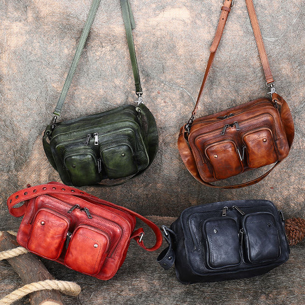 Cool Women's Leather Crossbody Sling Bags Purse Shoulder Bag for Women Cute