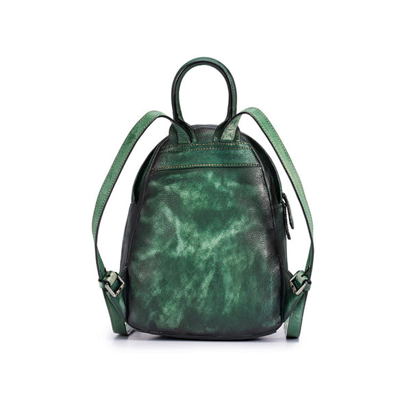 Cool Womens Backpack Vintage Dyeing Leather Backpacks for Women cool