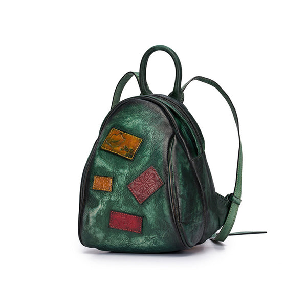 Cool Womens Backpack Vintage Dyeing Leather Backpacks for Women work bag 1
