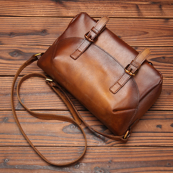 Cool Womens Brown Leather Satchel Bag Crossbody Bags Purse for Women fashion