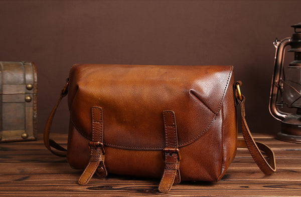 Cool Womens Brown Leather Satchel Bag Crossbody Bags Purse for Women gift
